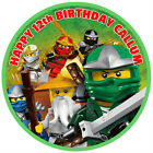 Ninjago personalised edible icing round cake topper in 3 sizes