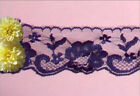 "Purple Lace Trim Vintage 6-12 Yards x 2-3/8"" Floral R117V Added Trims ShipFree"