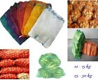 Net Sacks Waven Raschel Bags with Drawstring Mesh Vegetables Wood Logs Kindling.