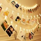 20/10 LED Photo Peg Clip LED Fairy String Light Wedding Hanging Picture Decor UK