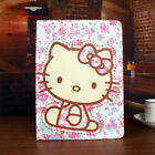 Kawaii Cartoon Kitty Cat Pink Flowers Smart Case Cover For Ipad Air/ipad Mini