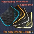 Personalised saddlecloth/numnah -embroidered on BOTH sides, UNLIMITED lettering!