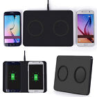 Dual Qi Wireless Fast Charger Charging Dock Pad For Samsung S8 iPhone X 8 Plus