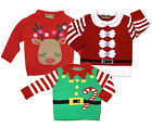 NEW BABY TODDLER HONOUR & PRIDE FESTIVE 3-24 MONTHS KNITTED CHRISTMAS JUMPERS