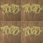 DIY Cake Toppers Cupcake Cake Birthday Party Decor Supplies Happy 30/40/50/60th