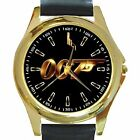 New* HOT JAMES BOND 007 Gold Or Silver Logo Round Metal Watch W/ Genuine Leather $25.44 CAD