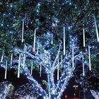 30cm 144LED Light Meteor Shower Rain Tube Snowfall Tree Garden Christmas Outdoor