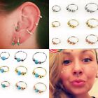 Surgical Steel Small Thin Ring Hoop Nose Lip Ear Tragus Helix Piercing 20g NEW!