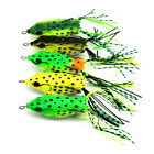 1pcs Soft Baits Frog Lifelike Fishing Lure Plastic Soft Hollow Body Topwater new