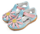 Genuine Leather Girls Sandals Floral Appx1-6yr Child Shoes