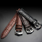 Universal Vintage Genuine Leather Wrist Watch Band Strap 12/14/16/18/20/22/24 mm image