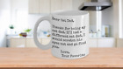 Cat Scratch Mug-Funny-Owner Gift-Kitten-Kitty Lover-Dear Dad-Christmas-Father's