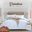 NEW All Season Microfibre Winter Quilt Duvet Doona Blanket All Sizes Microfiber