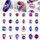 New 3D Nail Art Tips Crystal Rhinestones Glitter Acrylic DIY Manicure Decoration