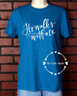 Unisex T-Shirt Vinyl Lettering - He Walks With Me Christian Witness Small