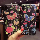 Hot Fashion Embroidery Butterfly Flower Soft Case Cover For iPhone X 6 7 8 Plus