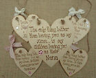 Mother's Day gift - personalised wooden heart for Mummy,Nanny,Nanna,Mum,Mammy
