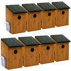 WOODEN NESTING BOX BIRD HOUSE SMALL BIRD...