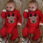 Newborn Toddler Baby Kid Girls Boys Xmas Clothes Romper Jumpsuit Pajamas Outfits
