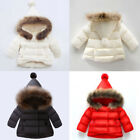 Toddler Baby Boy Girl Winter Down Jacket Coat Hooded Hoodie Outerwear Snowsuits