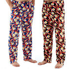 Mens Breakfast Printed Fleece Lounge Pants Pyjama Bottoms Loungewear Trousers