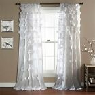 Lush Decor 1 Piece Riley Window Curtain Panel Drape Available in Different Color