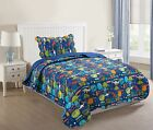 2 Pcs Kids Bedspread Quilts Set Throw Blanket For Teens Boys Girls Bedding Twin