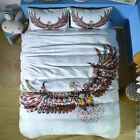 Twin Full Queen King Bed Set Pillowcase Quilt Cover oauR Colorful Eagle mzly