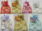 ORGANZA GIFT BAGS WITH 6 X ESSENTIAL OIL BATH BOMB HEARTS