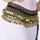 SEQUINS Belly Dance Waist Chain Hip Scarf WOMEN Gold Coins Band Belt Costume NEW