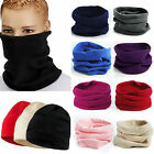 Polar Fleece Neck Warmer Snood Scarf Hat Unisex Thermal Ski Wear Snowboarding