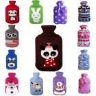 Knitted Hot Water Bag Bottle Cover Case Heat Warm Keeping Coldproof 31*20cm SH