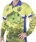 NRL Long Sleeve Fishing Polo Tee Shirt - Canberra Raiders - XS To 4XL
