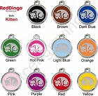 Red Dingo KITTEN Engraved Dog ID Pet Tag / Charm - Stainless Steel & Enamel