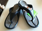 New Crocs Athens Thongs with Tags Smoke /Black Various Sizes Avaliable Free Post