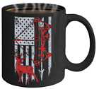 American Hunter Coffee Mug - Patriotic Hunter Mug - American Flag Mug - Bow Hunt