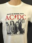 AC/DC Concert T Shirt Back to School Days Vintage Retro White Graphic Band Tees image