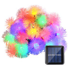 Solar Powered Chuzzle Ball Outdoor LED String Lights 15.7ft 20 LED holiday Light