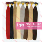 18inch 1g/s 100S Pre Bonded Keratin Glue Nail/U Tip Remy Human Hair Extensions