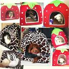 Soft Strawberry Pet Puppy Dog Cat House Kennel Doggy Fashion Cushion Basket Bed