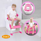3 in 1 Baby Potty Training Toilet Chair Seat Step Ladder Trainer Toddler 3 Color