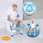 3 in 1 Baby Potty Training Toilet Chair Seat Step Ladder Trainer Toddler 3 Color фото