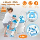 Baby Kids Training Toilet Potty Trainer Seat Chair Toddler Ladder Step Up Stool image