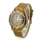 Bewell Unisex W121A Wooden Watch and Leather Strap-Analog Round Dial Wristwatch