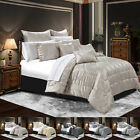 Bedspread Luxury Jacquard 3 Pcs Faux Silk Quilted Bed Spread Comforter Set Sizes image
