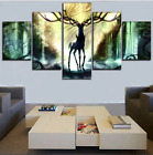 5 Panel Pokemon Deer Paintings Canvas Print Wall Art Home Decor