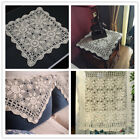 lace square tablecloth - Vintage Cotton Table Cloth/Cover Square Handmade Crochet Lace Tablecloth Floral