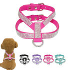 Soft Bling Rhinestone Pet Cat Puppy Dog Harness Strap Vest for Chihuahua Yorkie