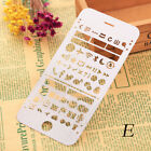 Floral Animal Hollow Drawing Template Bookmark Stainless Steel Painting Rulers