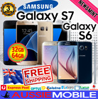 NEW SAMSUNG GALAXY S7 & S6 4G LTE 32, 64GB GENUINE UNLOCKED FREE SHIPPING